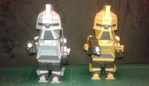 """Lego style"" Cylons (both Silver & Gold)"